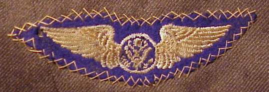 Machine Embroidered on Blue